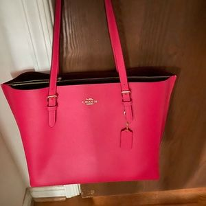Coach Mollie Tote- Hot Pink